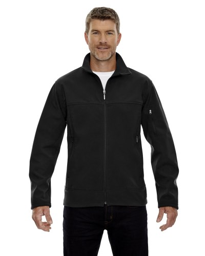Men's Three-Layer Fleece Bonded Performance Soft Shell Jacket