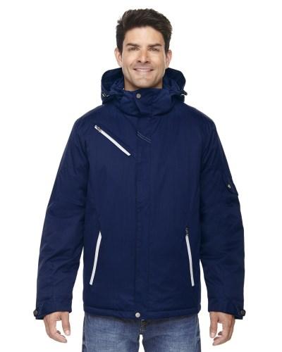 Men's Rivet Textured Twill Insulated Jacket