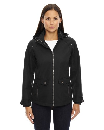 Ladies' Uptown Three-Layer Light Bonded City Textured Soft Shell Jacket