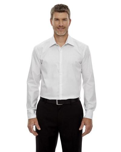 Men's Boardwalk Wrinkle-Free Two-Ply 80's Cotton Striped Tape Shirt
