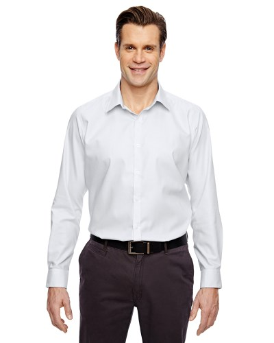 Men's Precise Wrinkle-Free Two-Ply 80's Cotton Dobby Taped Shirt