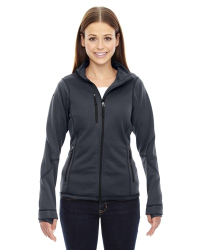 Ladies' Pulse Textured Bonded Fleece Jacket with Print