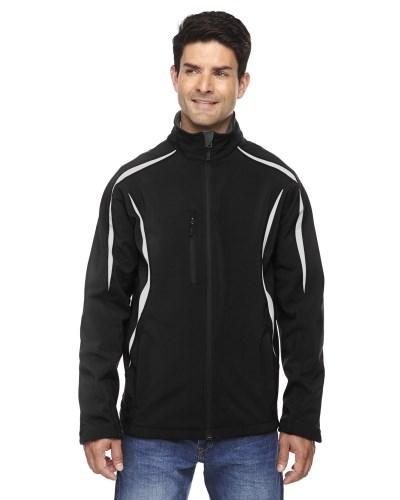 Men's Enzo Colorblocked Three-Layer Fleece Bonded Soft Shell Jacket