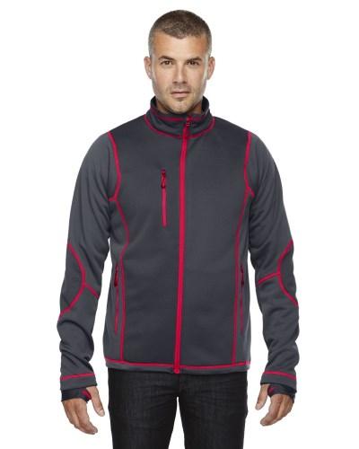 Men's Pulse Textured Bonded Fleece Jacket with Print
