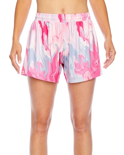 Ladies' Tournament Sublimated Pink Swirl Short