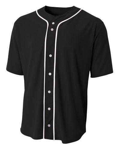 Shorts Sleeve Full Button Baseball Top
