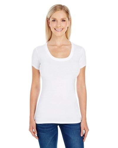 Ladies' Spandex Short-Sleeve Scoop Neck T-Shirt