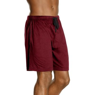 Hanes Mens Jersey Lounge Drawstring Shorts with Logo Waistband 2-Pack