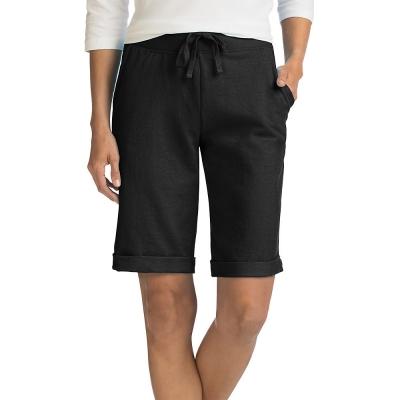 Hanes Womens French Terry Bermuda Pocket Short