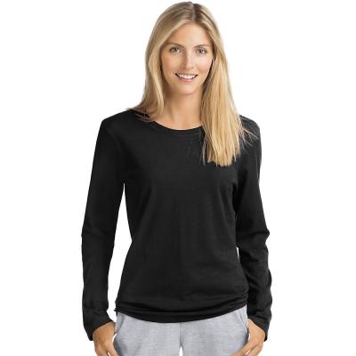 Hanes Womens Long-Sleeve Crewneck T-Shirt