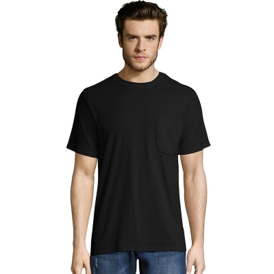 Hanes Mens X-Temp FreshIQ Workwear Pocket Tee Value 2-Pack