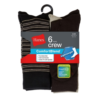 Hanes Men's Comfortblend Lightweight Casual Dress Socks P6