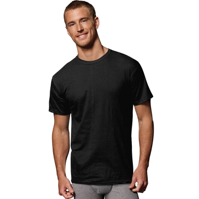 Hanes Men's FreshIQ ComfortSoft Dyed Black/Grey T-Shirt 2XL 4-Pack