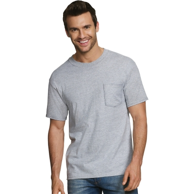 Hanes Men's FreshIQ ComfortSoft Dyed Assorted Colors Pocket T-Shirt 5-Pack
