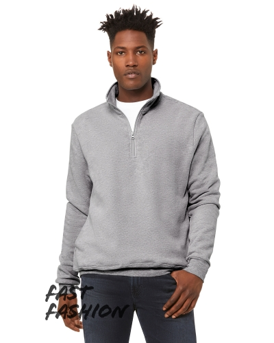 Fast Fashion Unisex Quarter Zip Pullover Fleece