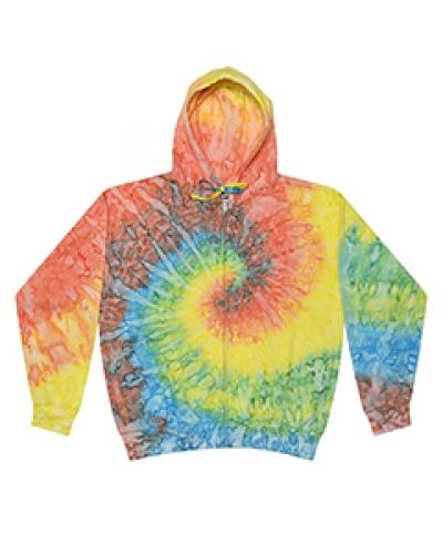 Adult Tie-Dyed Full-Zip Hooded Sweatshirt