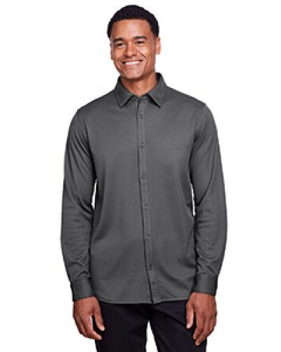 Men'S Crownlux Performance? Plaited Button-Down Shirt
