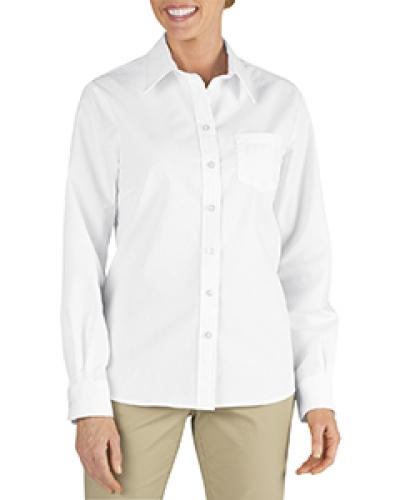 Ladies' Long-Sleeve Stretch Poplin Shirt