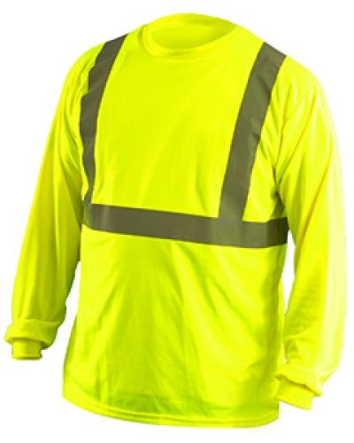 Men'S Classic Long Sleeve Wicking Birdseye Shirt