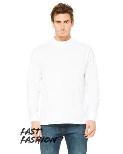 Fast Fashion Unisex Mock Neck Long Sleeve T-Shirt
