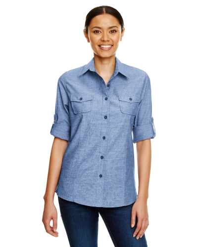 Ladies Chambray Woven Shirt