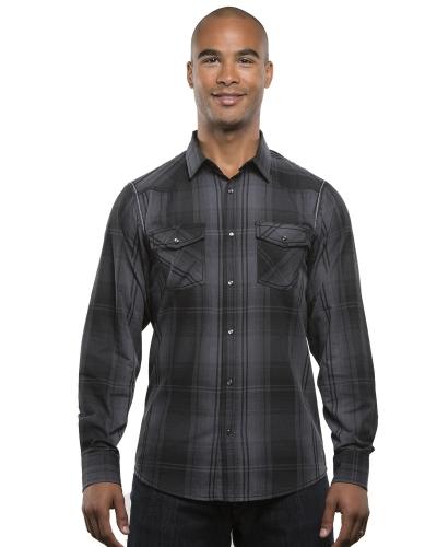 Men's Long-Sleeve Western Plaid Shirt