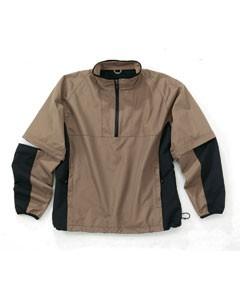Men's Quarter Zip Windshirt With Zip Off Sleeves