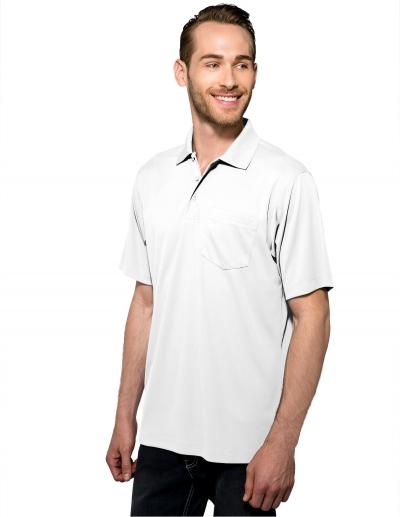 Tri Mountain K020P Vital Pocket Men'S 100% Polyester Knite Gold Shirt