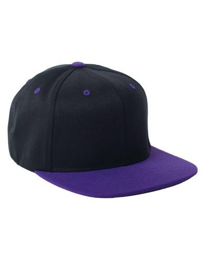 Adult Wool Blend Snapback Two-Tone Cap
