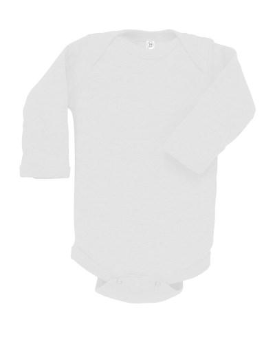 Infant Long-Sleeve Baby Rib Bodysuit