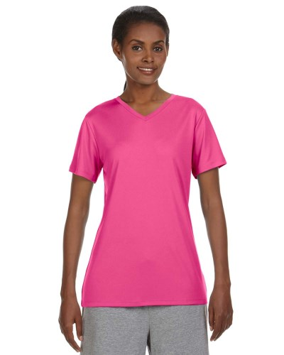 Hanes 483V Ladies Cool DRI with FreshIQ V-Neck Performance T-Shirt