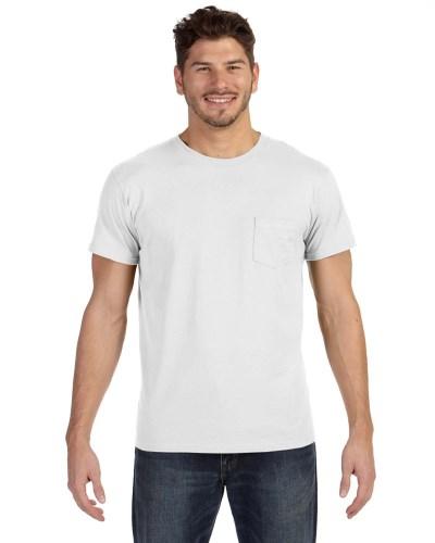 Adult 4.5 oz., 100% Ringspun Cotton nano-T® T-Shirt with Pocket