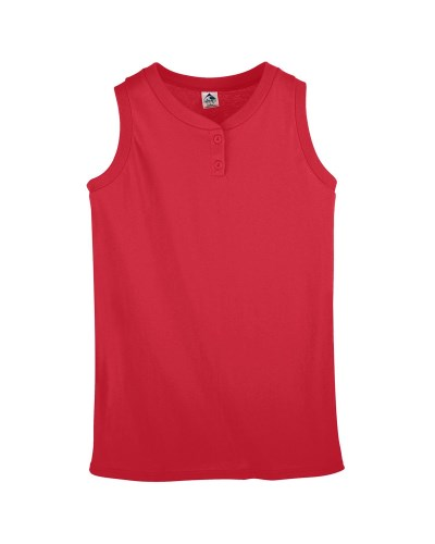 Ladies' Sleeveless Two-Button Softball Jersey