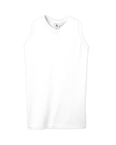 Girls' Sleeveless V-Neck Poly/Cotton Jersey
