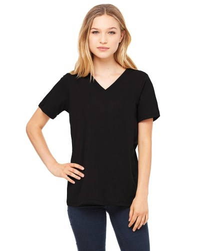 Bella + Canvas 6405 Ladies' Relaxed Jersey Short-Sleeve V-Neck T-Shirt
