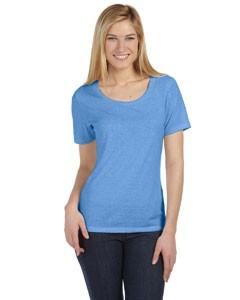 Bella + Canvas 6406 Missy Jersey Short-Sleeve Scoop Neck T-Shirt