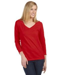 Missy Jersey 3/4-Sleeve V-Neck T-Shirt