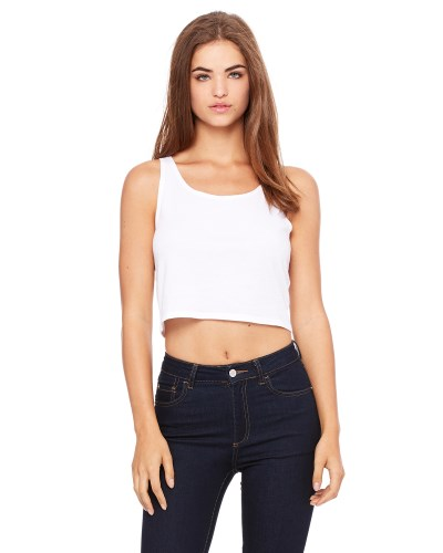 Ladies' Poly-Cotton Crop Tank