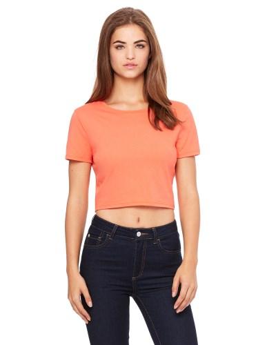 Ladies' Poly-Cotton Crop T-Shirt