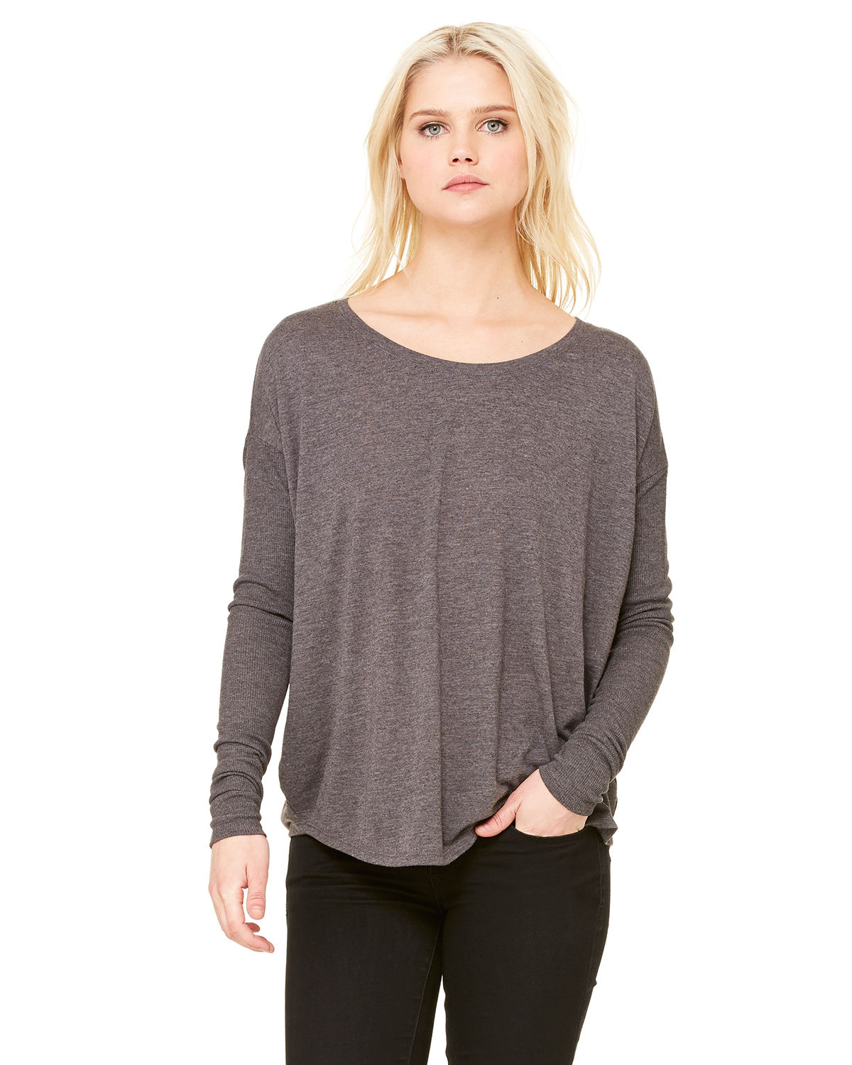 Ladies' Flowy Long-Sleeve T-Shirt with 2x1 Sleeves