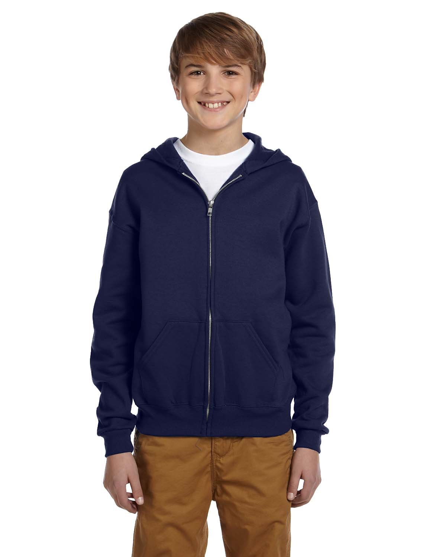 Youth 8 oz. NuBlend® Fleece Full-Zip Hood
