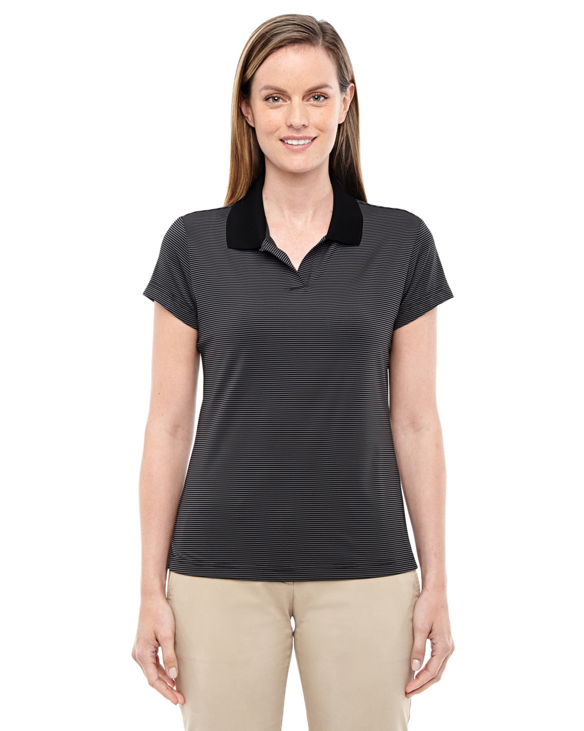 Ladies' ClimaLite Classic Stripe Short-Sleeve Polo