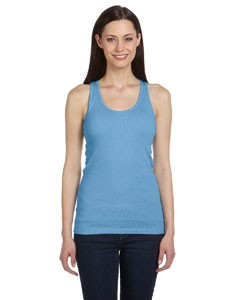 Ladies' 2x1 Rib Racerback Longer Length Tank