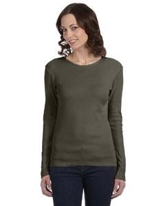 Ladies' Stretch Rib Long-Sleeve T-Shirt