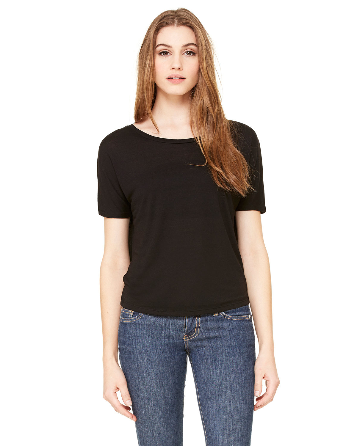 Ladies' Flowy Open Back T-Shirt