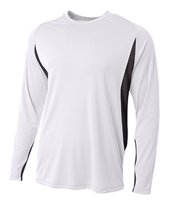 Men's Long Sleeve Color Block T-Shirt