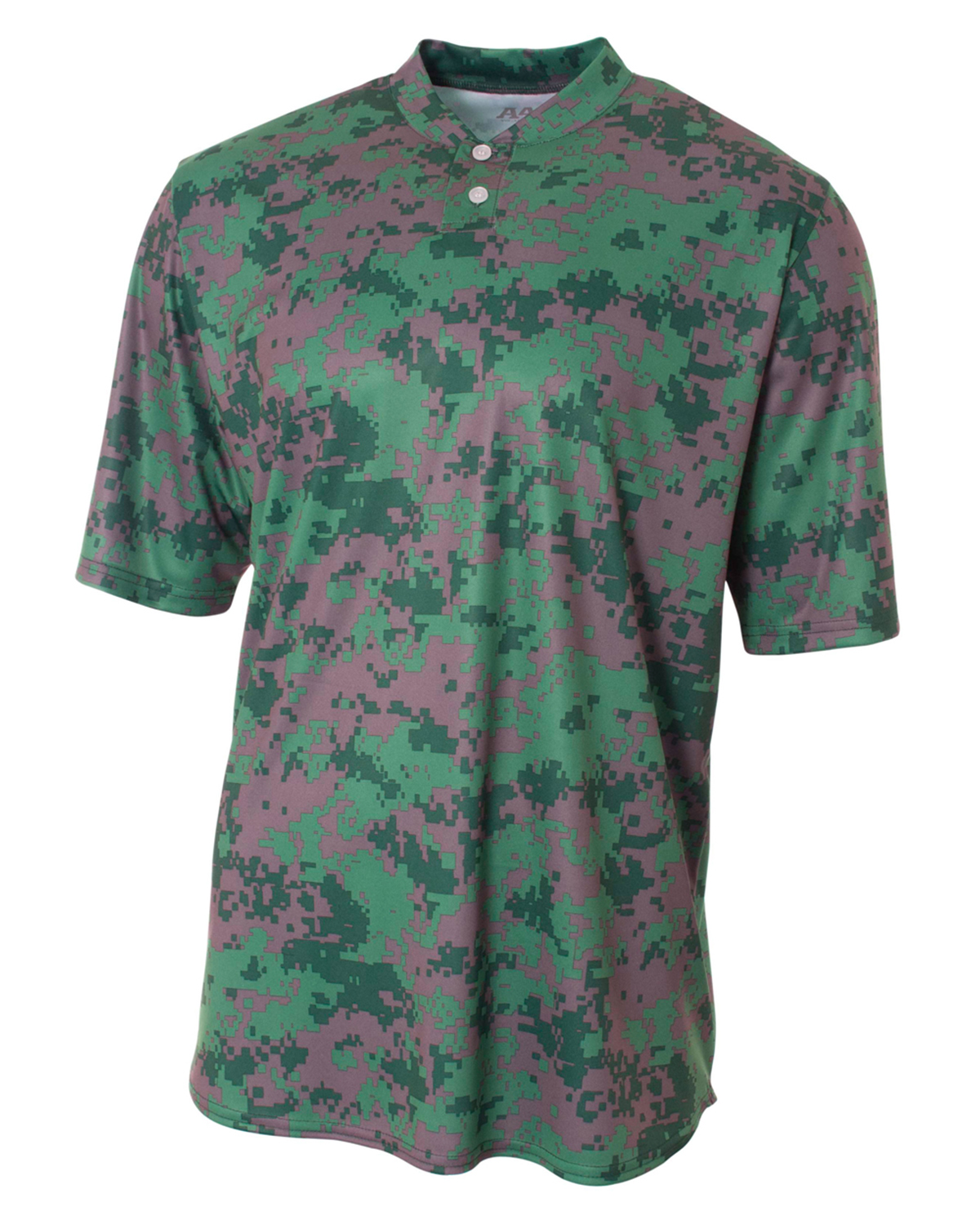 Camo 2-Button Henley Shirt