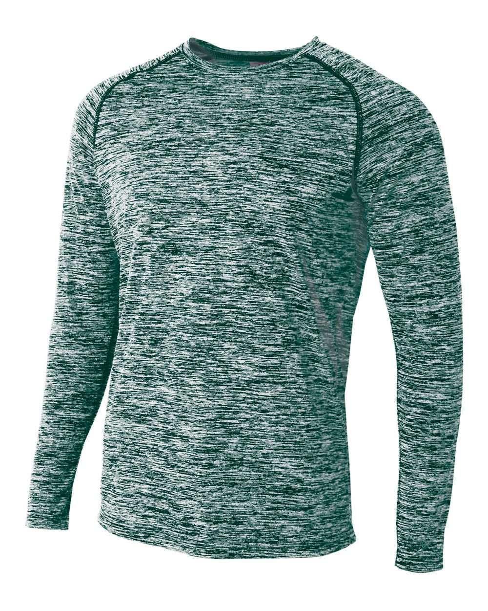 Adult Space Dye Long Sleeve Raglan T-Shirt