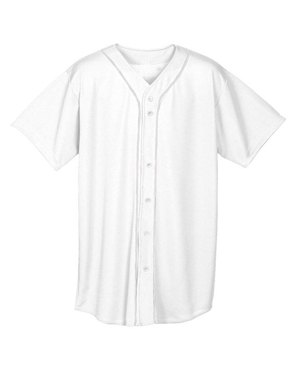 Youth Short Sleeve Full Button Baseball Jersey