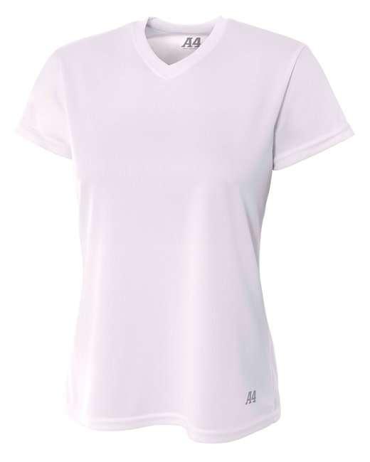 Ladies' Birds-Eye Mesh V-Neck T-Shirt